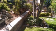 Dry Stack Garden Wall With French Drain