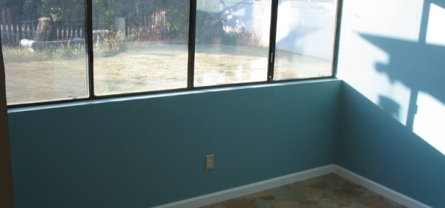 Indoor Walls & Blue Paint